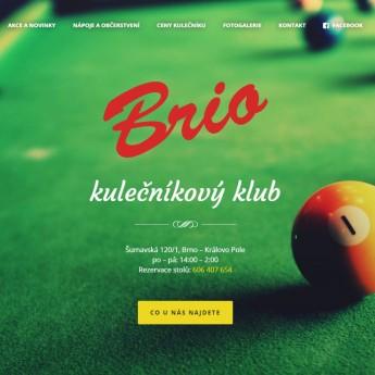 Náhled projektu Kulečníkový klub Brio